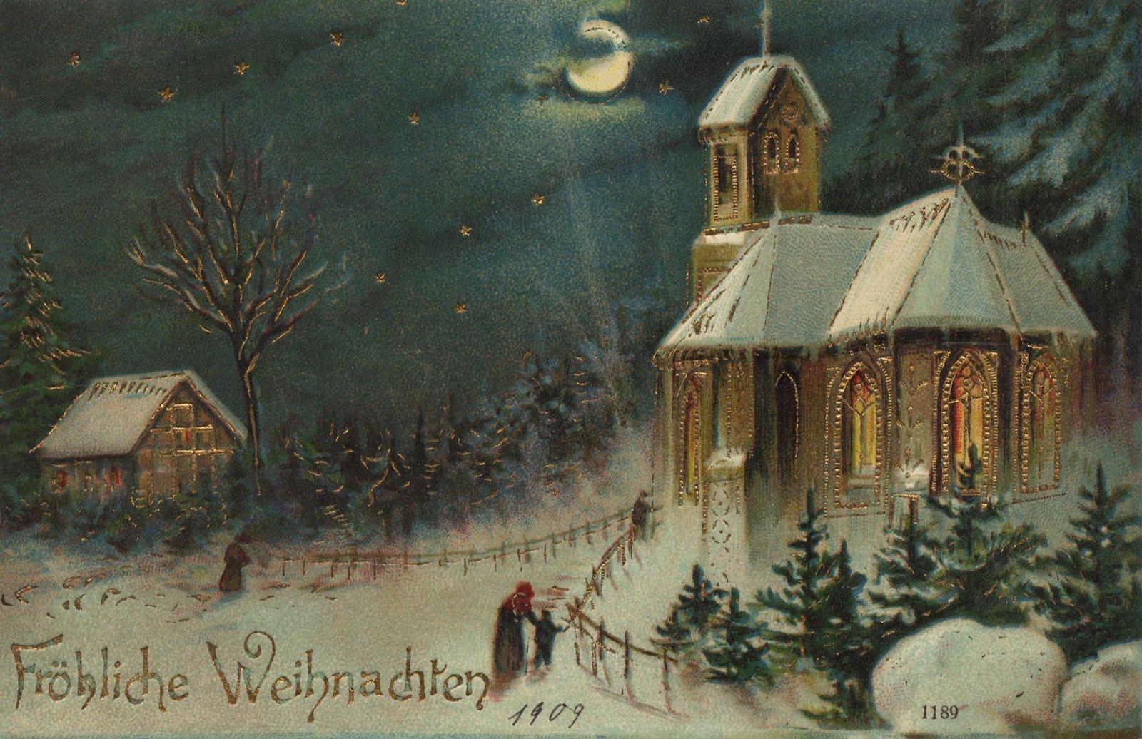 vintage german postcard 1909 christmas pinterest. Black Bedroom Furniture Sets. Home Design Ideas