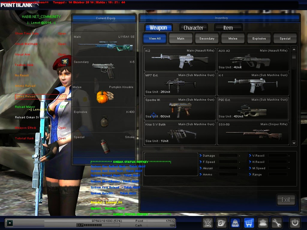 Cheat PB Point Blank Auto HS Terbaru 18 Desember 2014