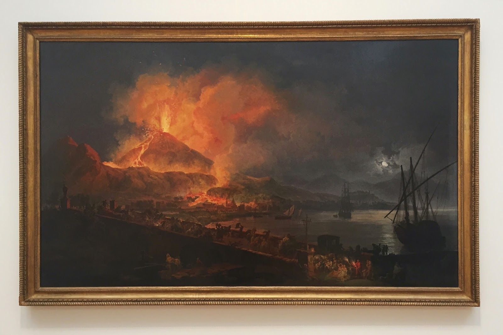 The Eruption of Mt. Vesuvius, Pierre-Jacques Volaire, oil on canvas, North Carolina Museum of Art, NCMA, Raleigh, North Carolina, things to do in Raleigh, things to go in North Carolina, art, art museum