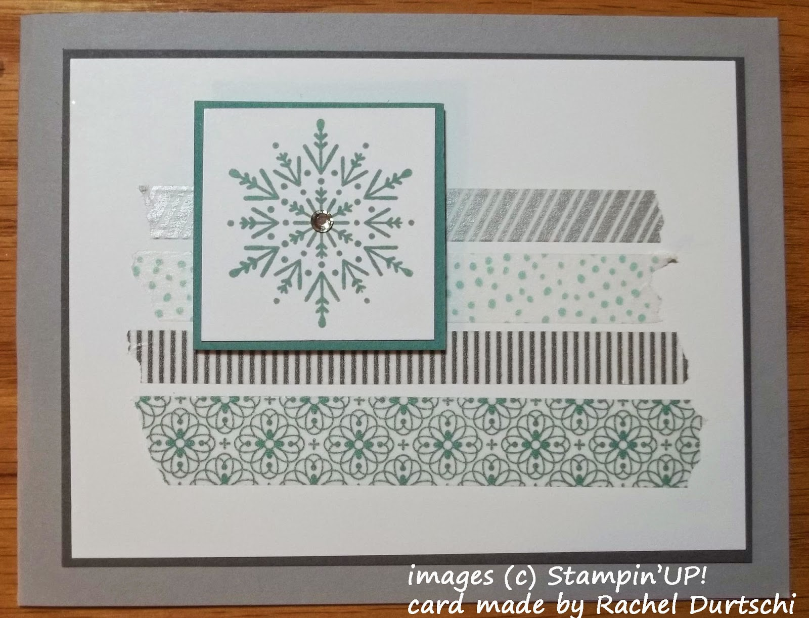 Winter card with Stampn'UP!'s Washi Tape