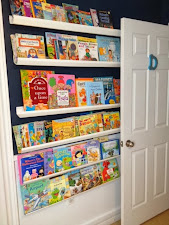 Rain gutter bookshelves for our preschooler's bedroom