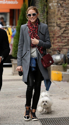 Celebrity street style, casual outfit idea, look for less, #OliviaPalermo, NYC, winter fashion
