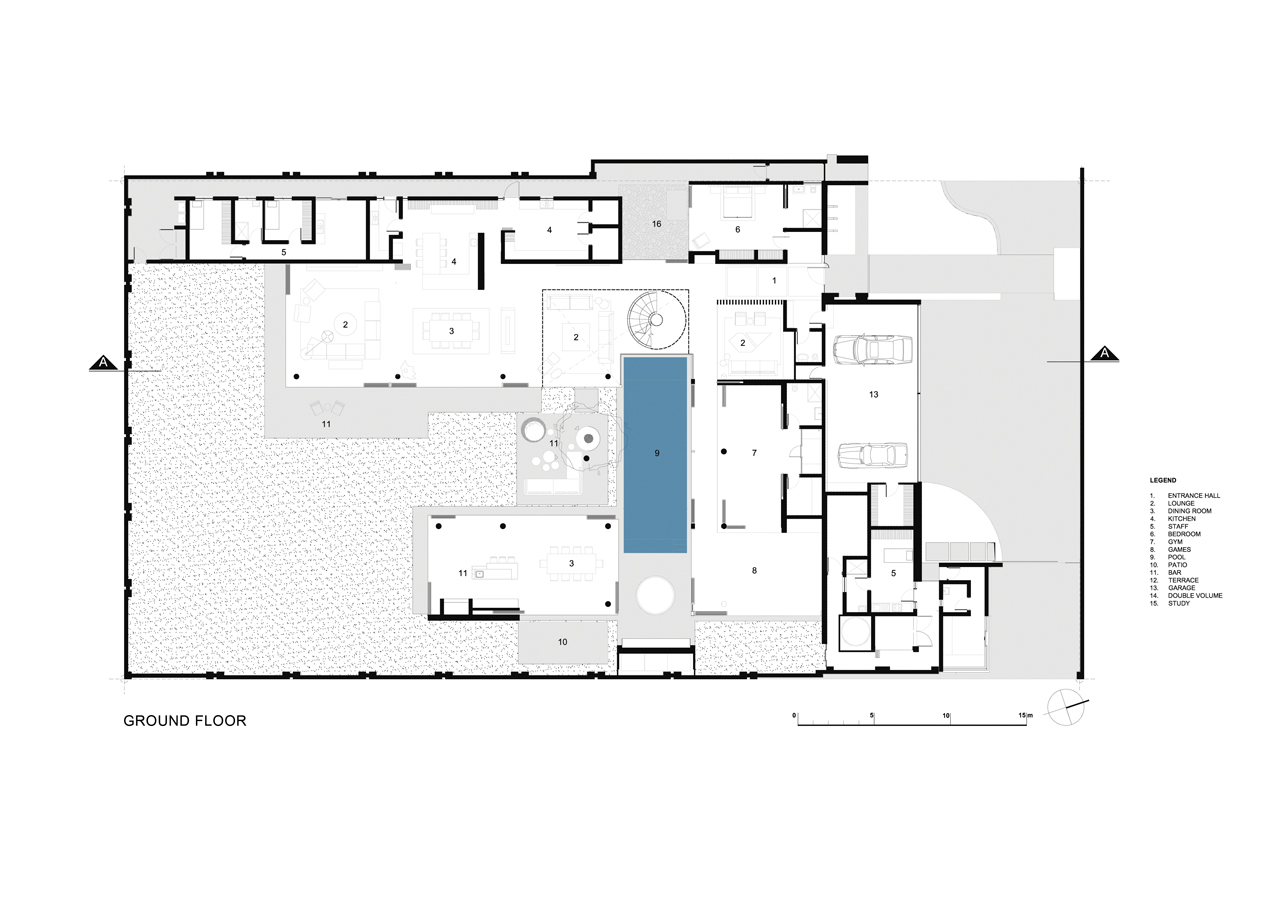 South African dream home ground floor floor plan
