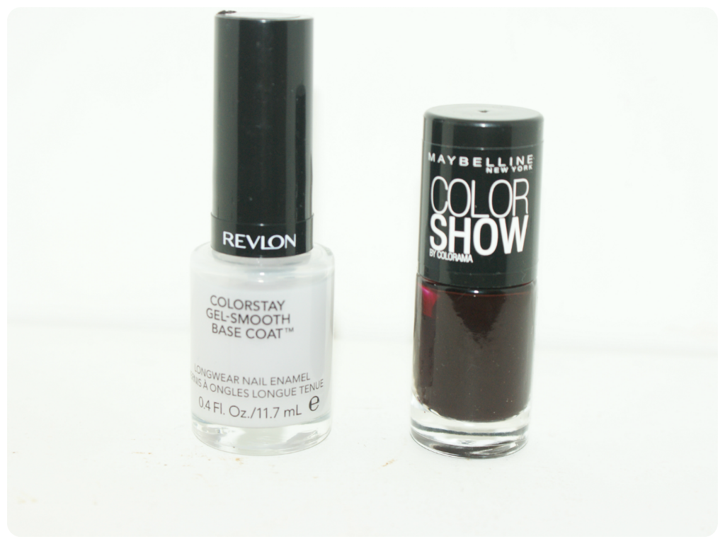 Revlon Colorstay Gel Smooth Bases Coat and Maybelline Color Show in Burgundy Kiss