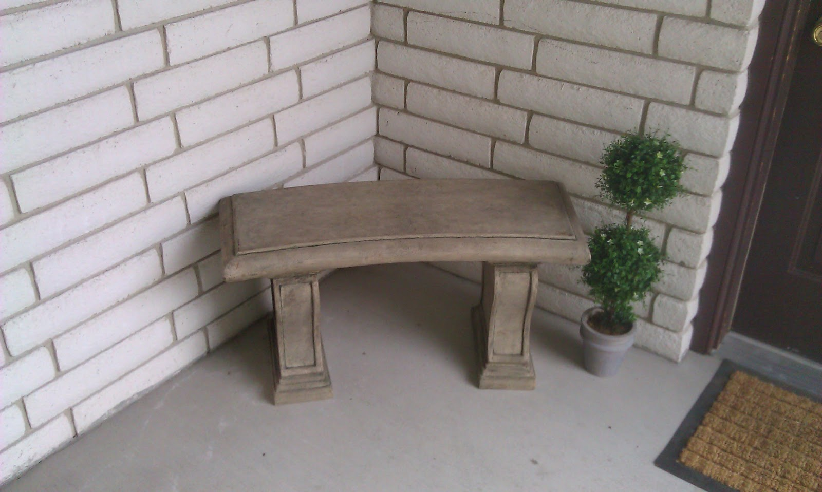 Gingersnapped A Little Stone Bench