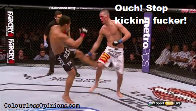 Dos Anjos leg kick Nate Diaz UFC on Fox 13