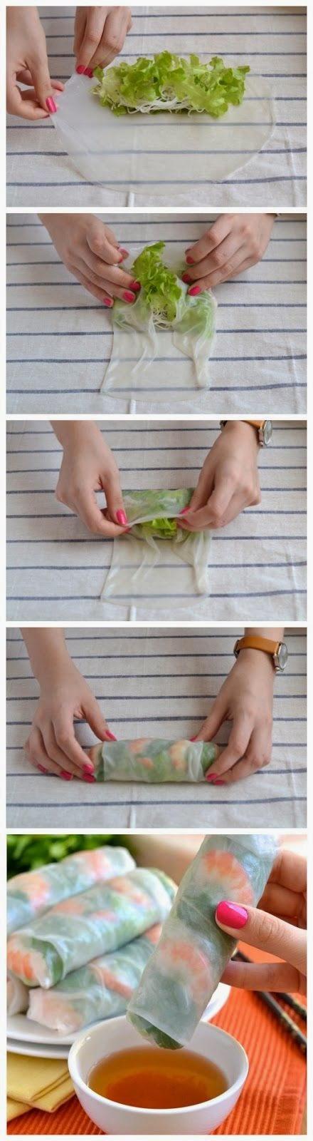 How to Make Vietnamese Fresh Spring Rolls | Food drink