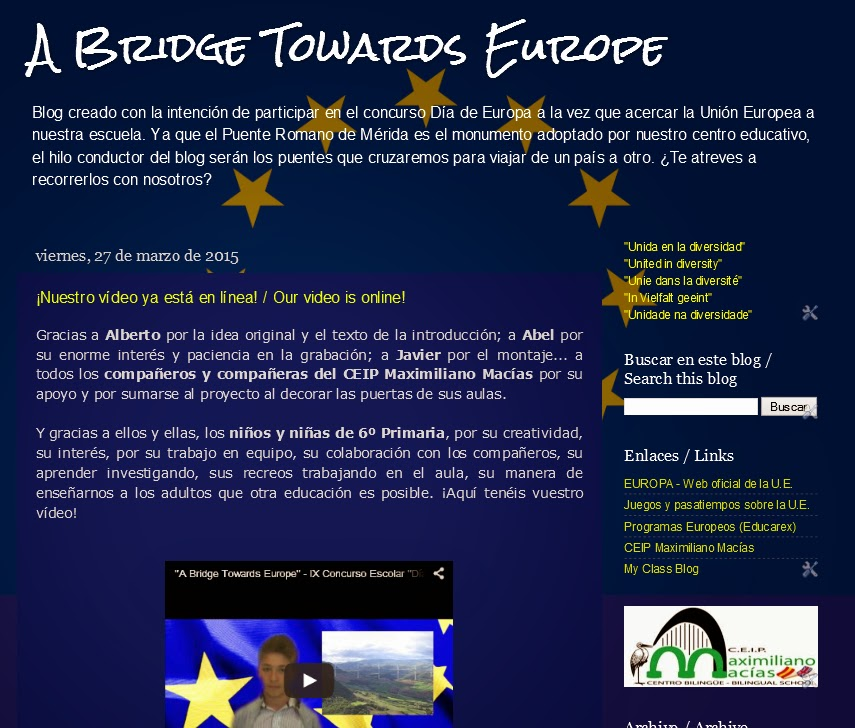A Bridge Towards Europe blog capture