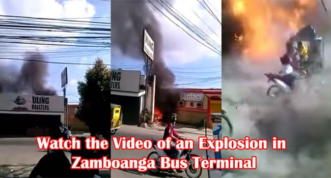 Watch the Video of an Explosion in Zamboanga Bus Terminal