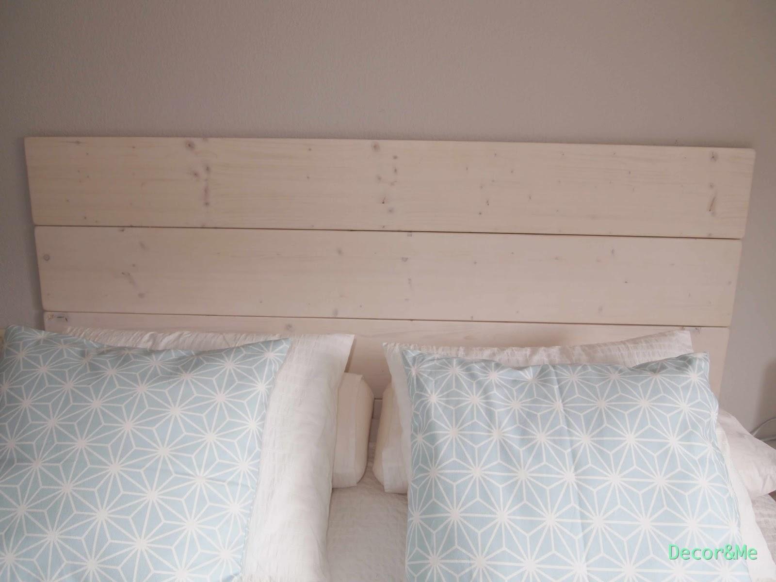 Decor me mi dormitorio diy el cabecero con tablones de - Cuadros para dormitorios leroy merlin ...