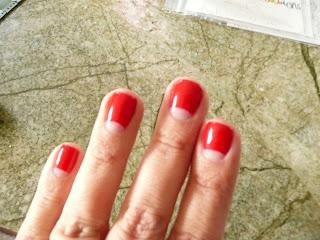 half moon gel manicure by Lady by Choice