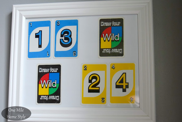 Turn an old UNO card game into personalized art - One Mile Home Style