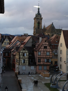 Colmar rooftops and church