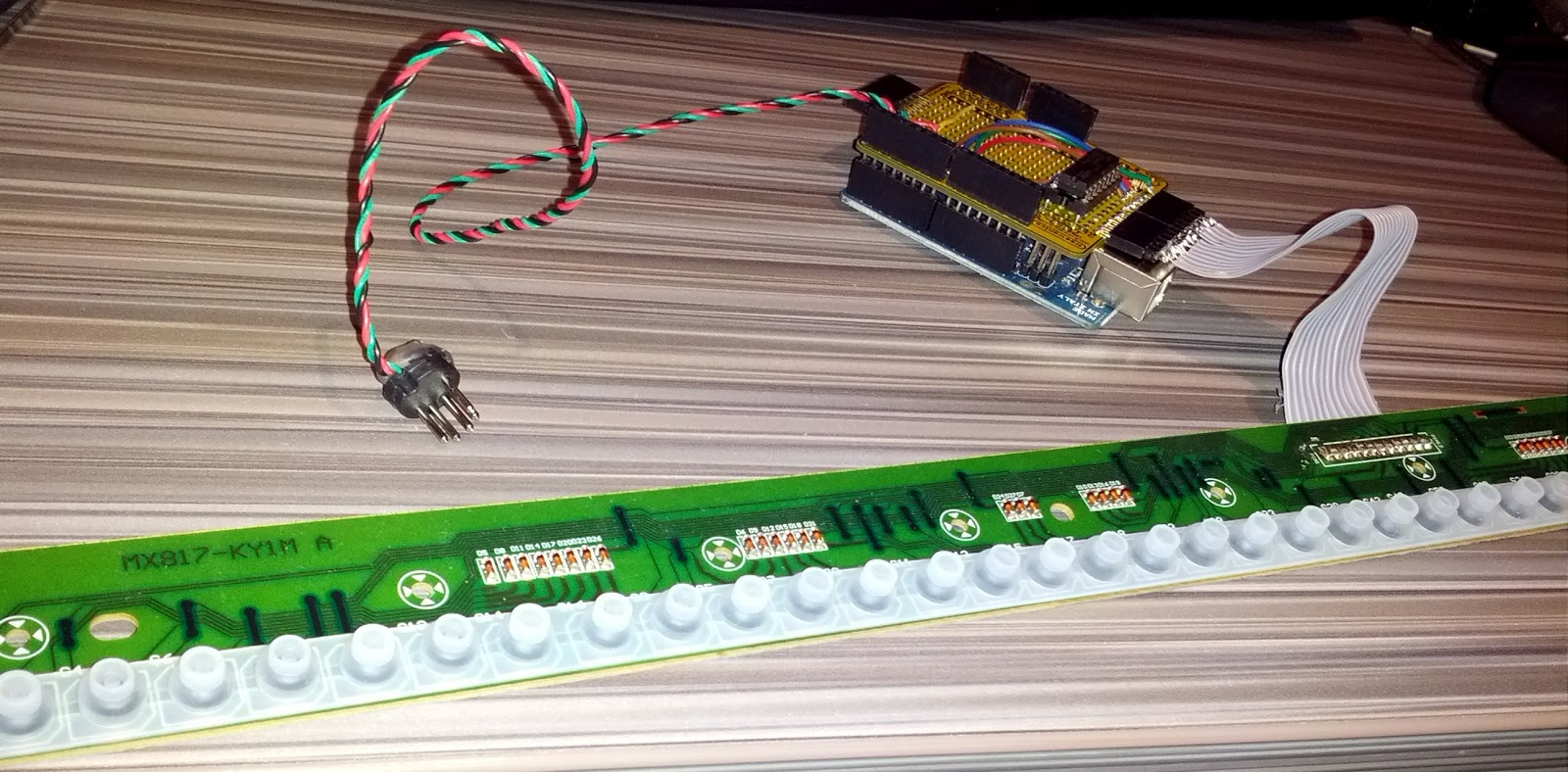 Code Tinker Hack How To Turn Piano Toy Into Midi Keyboard Using Circuit Bending Making Music By Rewiring Devices And Toys After Assembling All Main Components Below Is The Working Necessary Implement A