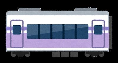 特急あずさ・スーパーあずさのイラスト(E351系)中間車両