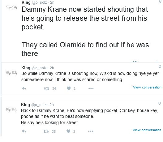 Twitter User Narrates How The Wizkid Vs Dammy Krane Fight Happened At Quilox Nightclub (Screenshots)