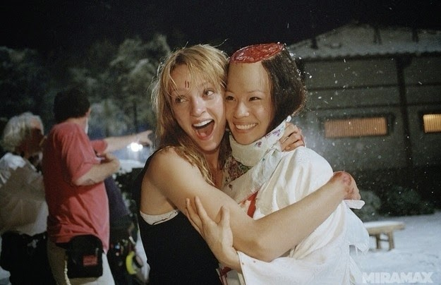Uma Thurman y Lucy Liu rodaje kill bill vol 1