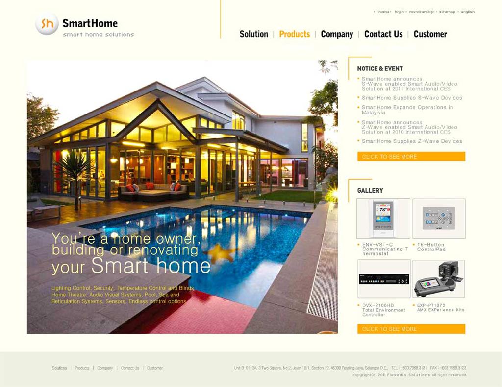 Smart Home   Technology, Web Design, Html+css, Cream Colored