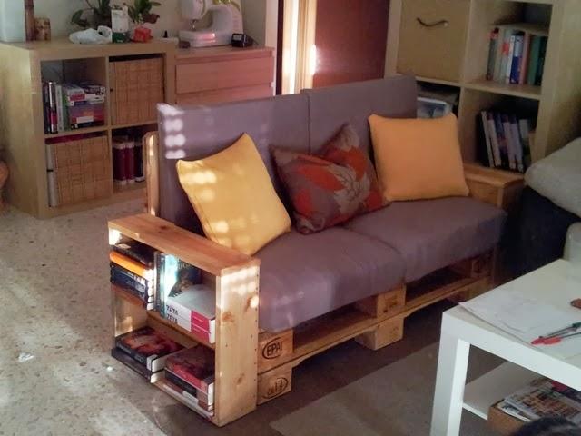 Diy c mo hacer un sof con palets - Como hacer un sofa con palets ...