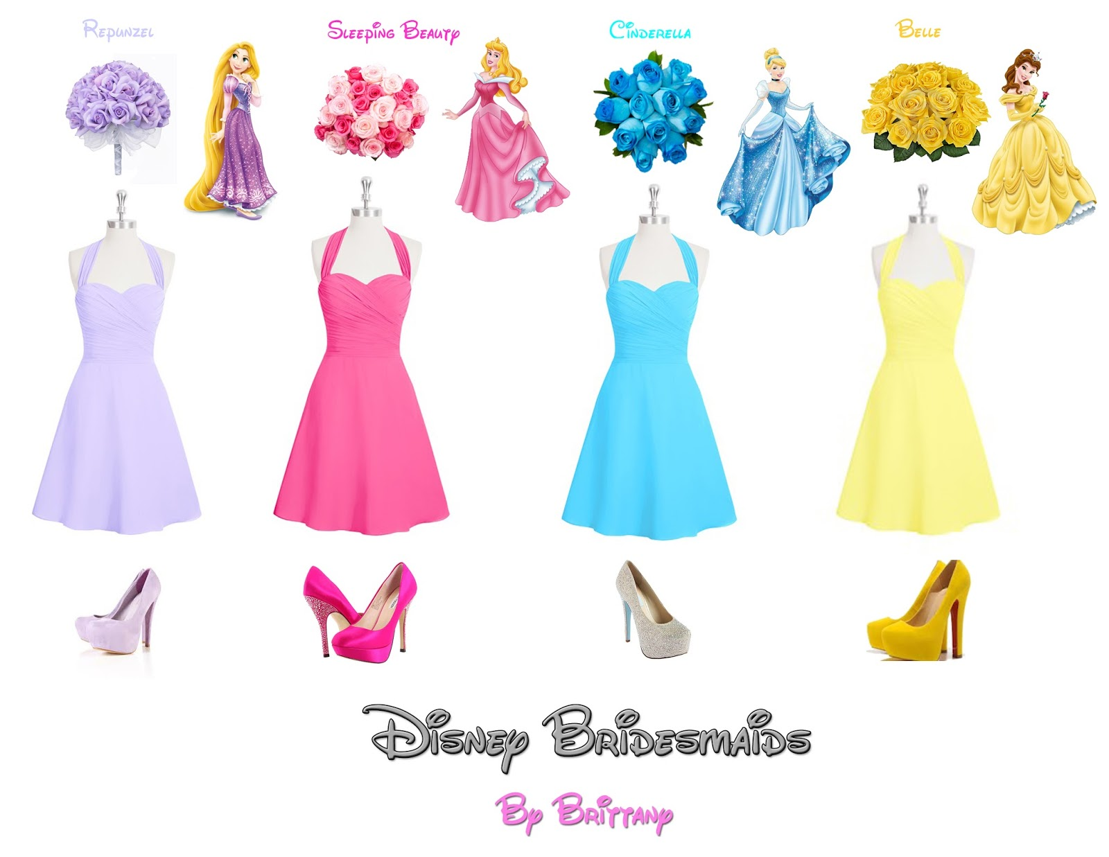 Disney Princess Bridesmaid Dresses