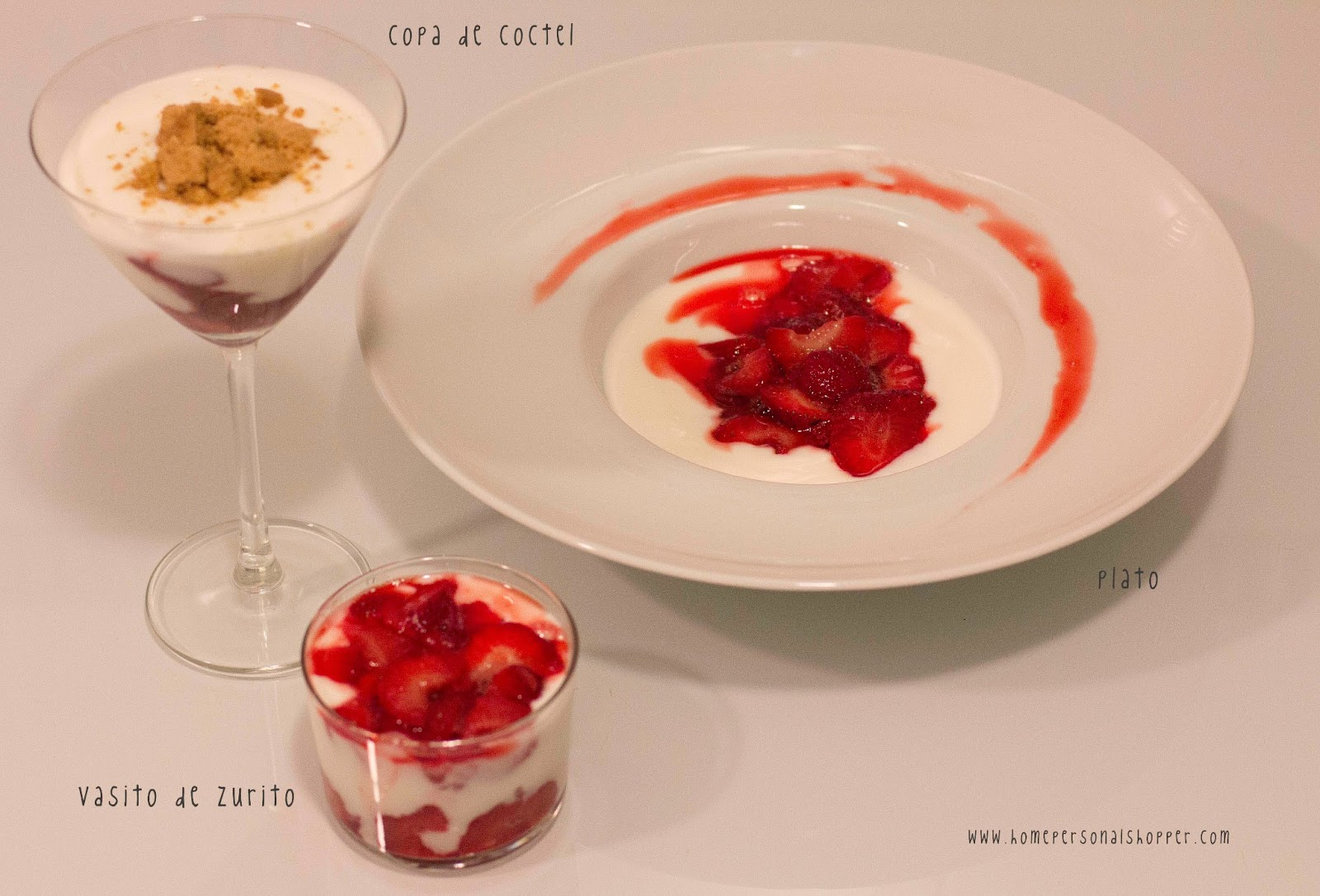 postre fresas receta ligero homepersonalshopper