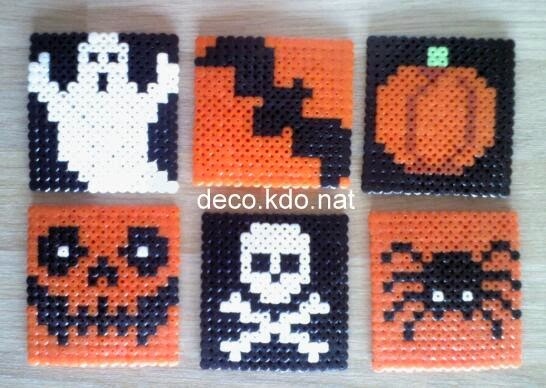 Decokdonat Perles Hama Sous Verre Halloween
