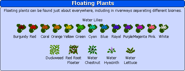 Plant Mega Pack Mod floating