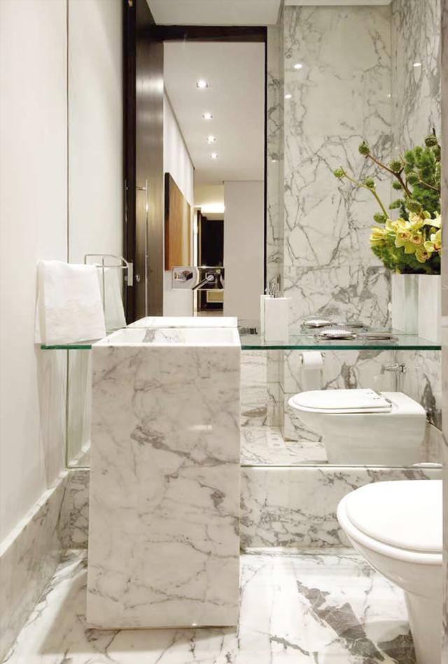 Lavabos cinzas modernos  veja modelos maravilhosos e dicas!  Decor Salteado -> Banheiro Cinza Moderno