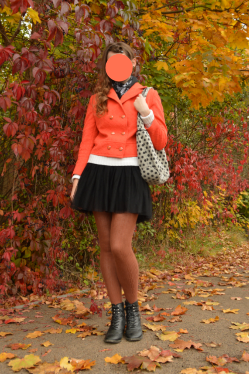 ootd, outfit, georgiana quaintrelle, quaint, orange, pumpkin, halloween, tulle