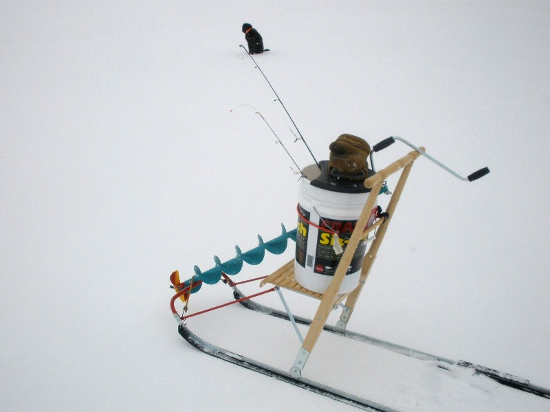 Bow narrows camp blog on red lake ontario perfect weather for Ice fishing sleds