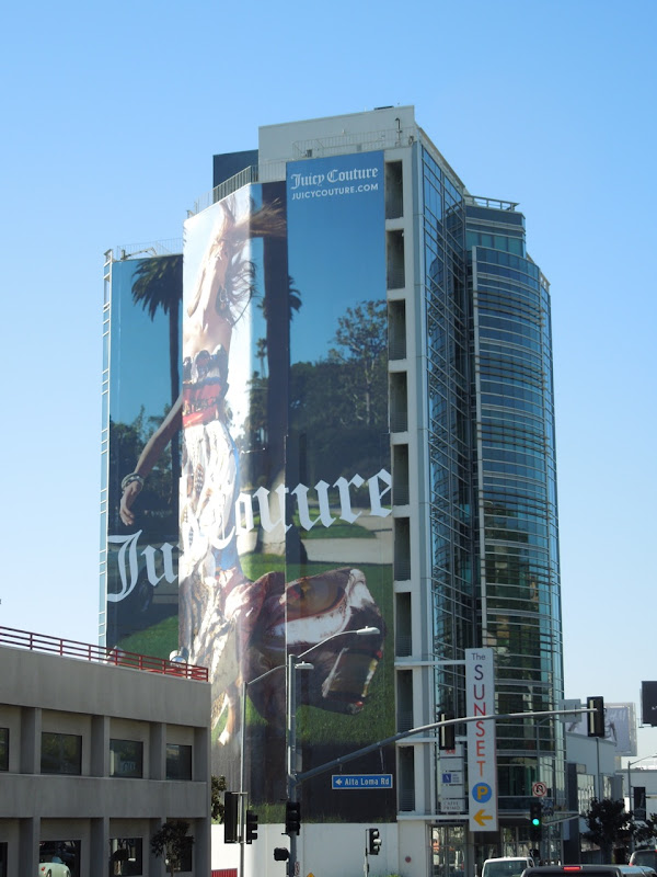 Juicy Couture billboard Sunset Strip