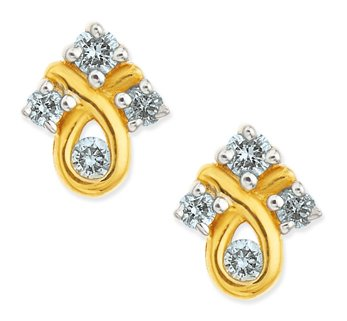 checkout beautiful tanishq simple diamond earrings