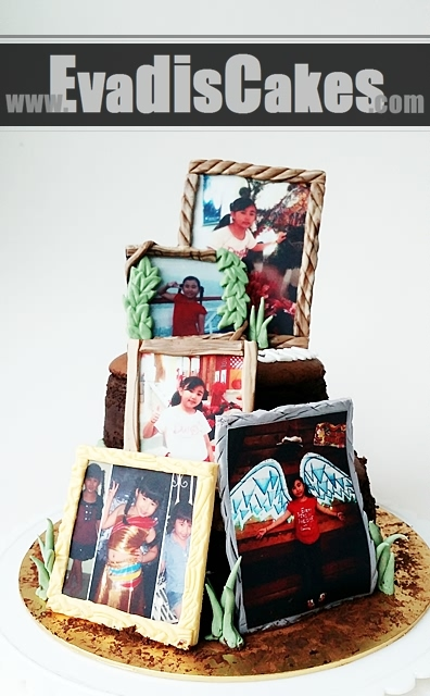 Full view picture of Picture Frame Cake