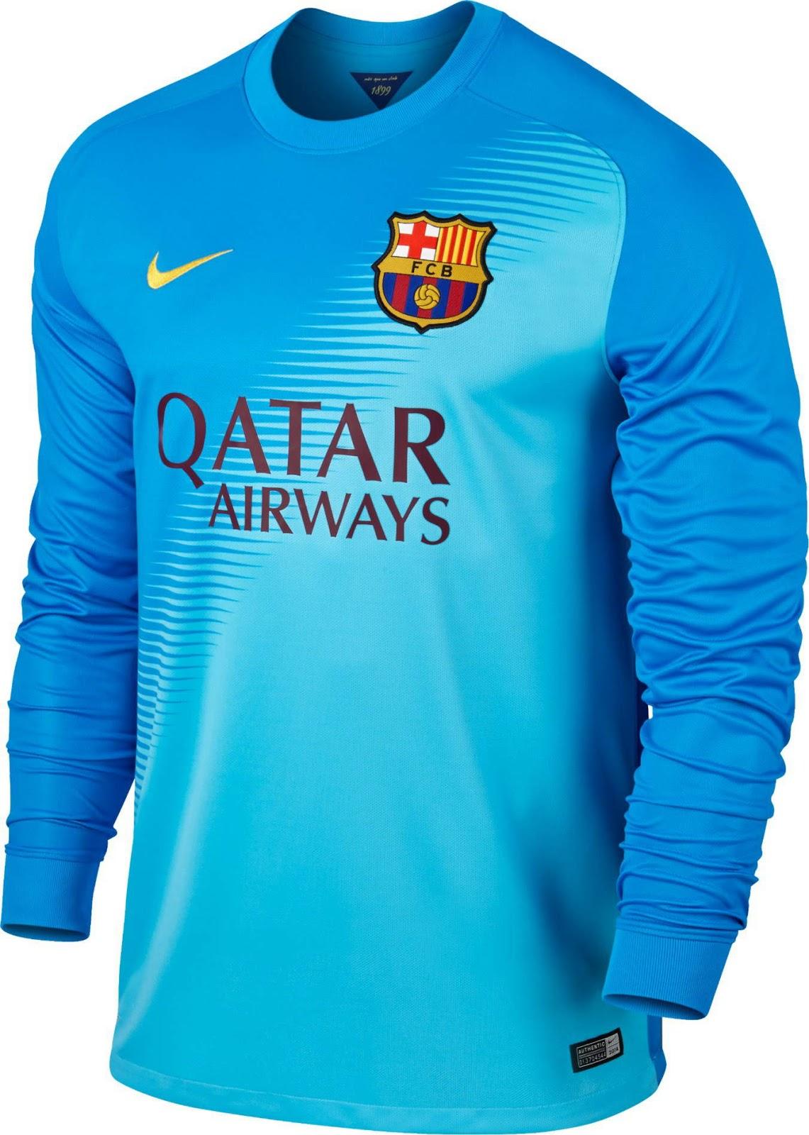 My football s04blog fc barcelona 2014 15 home and away kits for Blue barcelona