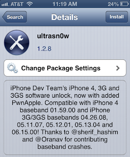 iPhone 4 ႏွင့္ 3Gs (Lock phone) အသံုးျပဳသူမ်ား iOS 6.1 ကို software unlock ျပဳလုပ္ႏိုင္ၾကပါၿပီ...