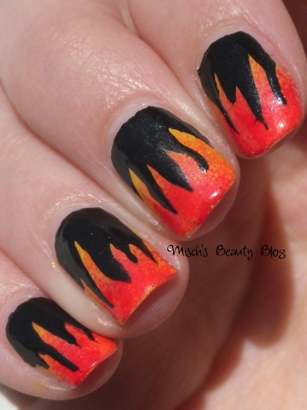 Beauty Blog: NOTD March 29th: Hunger Games Inspired Flame Nail Art