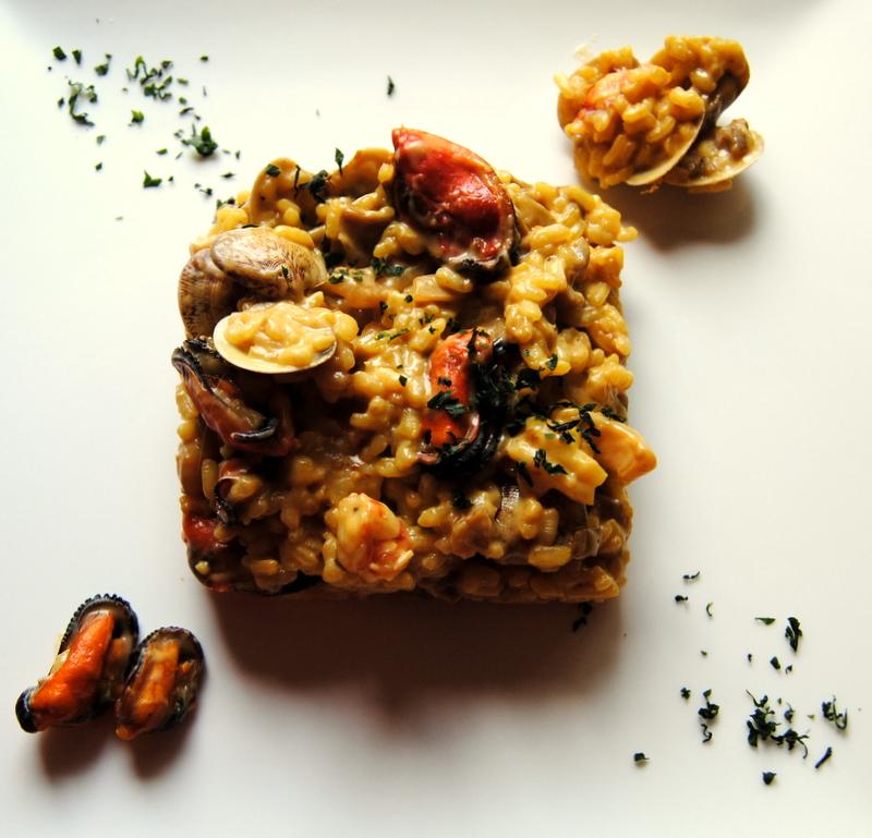 El placer de cocinar risotto de setas gambas sepia for Como cocinar risotto de setas