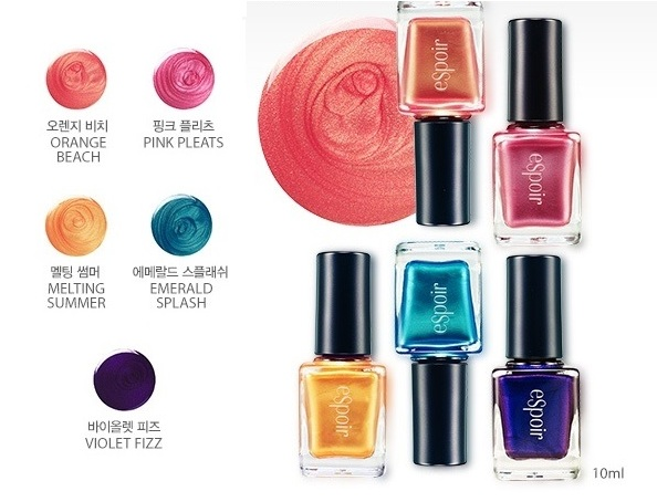 eSpoir beach bombshell fashion nail polishes