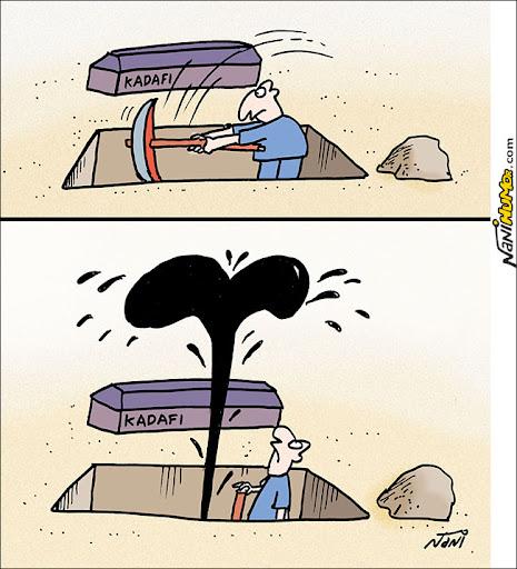 Enterrando Kadafi