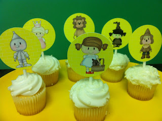 Easy Printable Wizard of Oz Cupcake Toppers