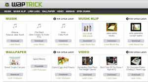 Cara Download di Waptrick atau Cipcup Melalui PC