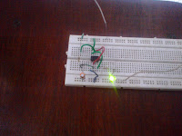 circuit made on breadboard