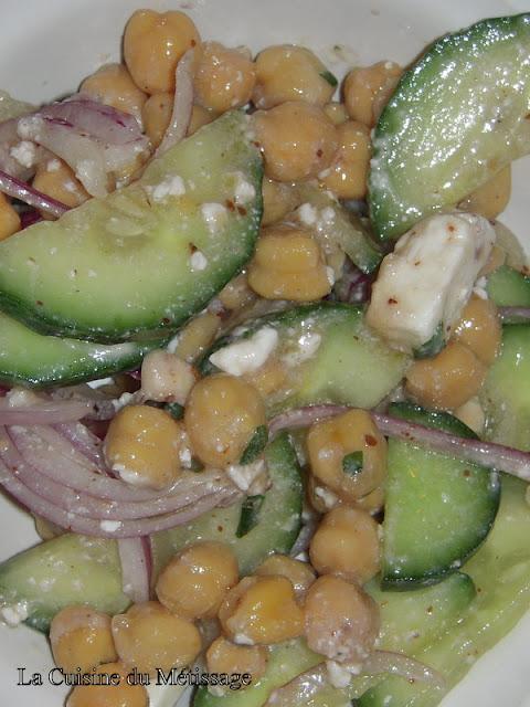 salade de pois chiche grecque