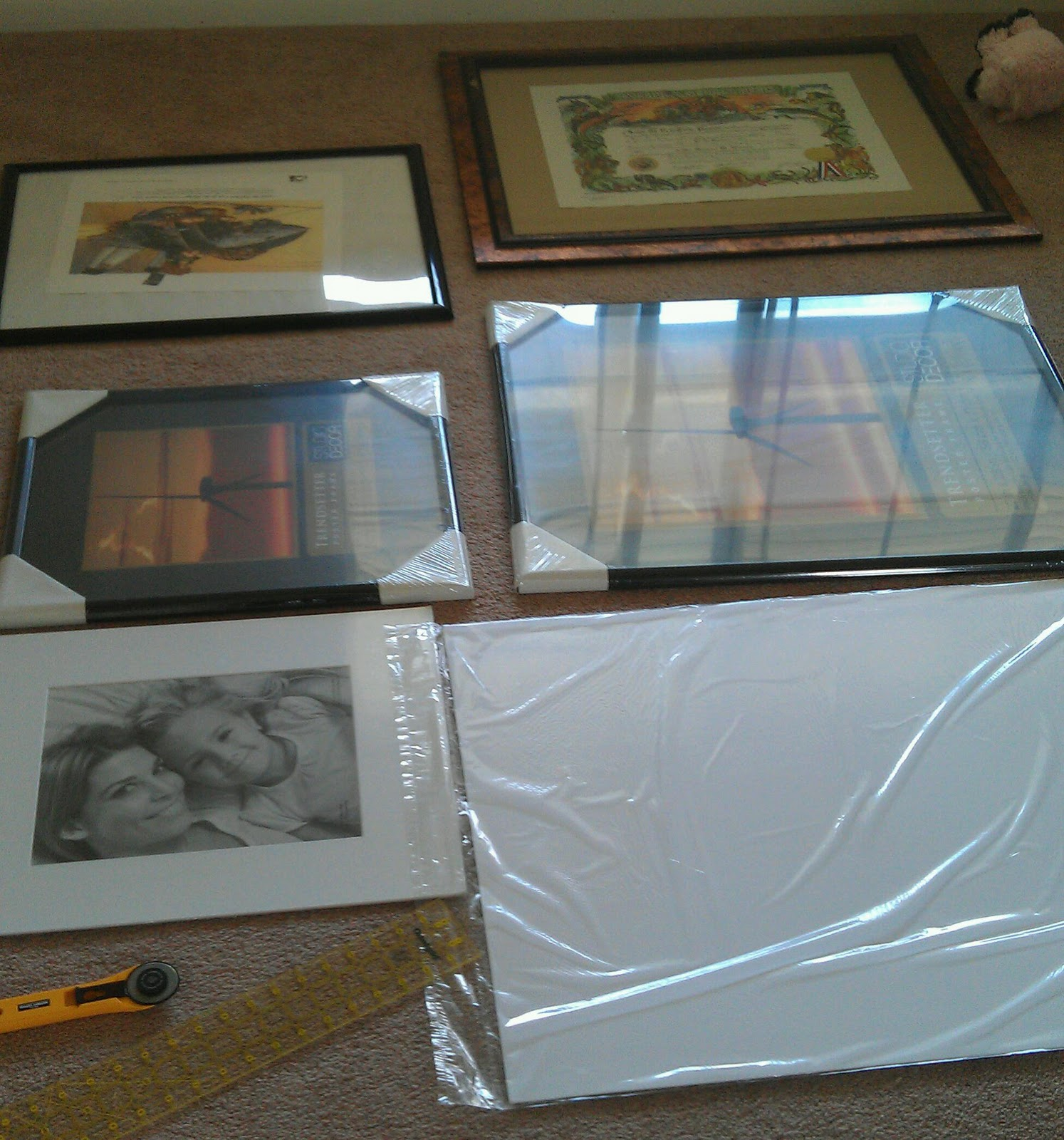 Leap! ...and the Net Will Appear: DIY Matting & Framing