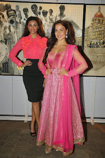 Daisy Shah and Elli Avram in At The 3rd Annual Charity Fundraiser Art Exhibition