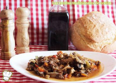 ternera en salsa de verduras