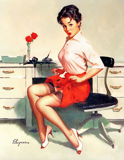 Office secretary Elvgren pinup girl  60s