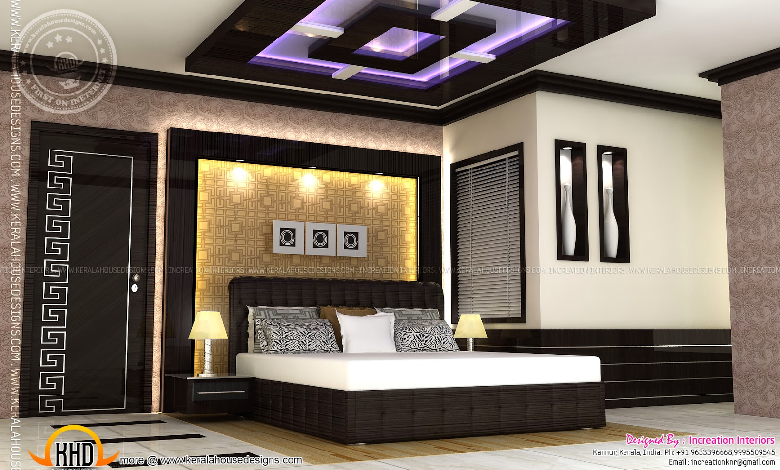 Kerala home design interior bedroom - Bedroom Interior Designs The Best Inspiration For Interiors Kerala House Interiors