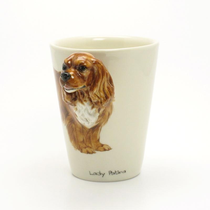 Muddymood Dog Mugs Custom Sculpt And Paint Cavalier King