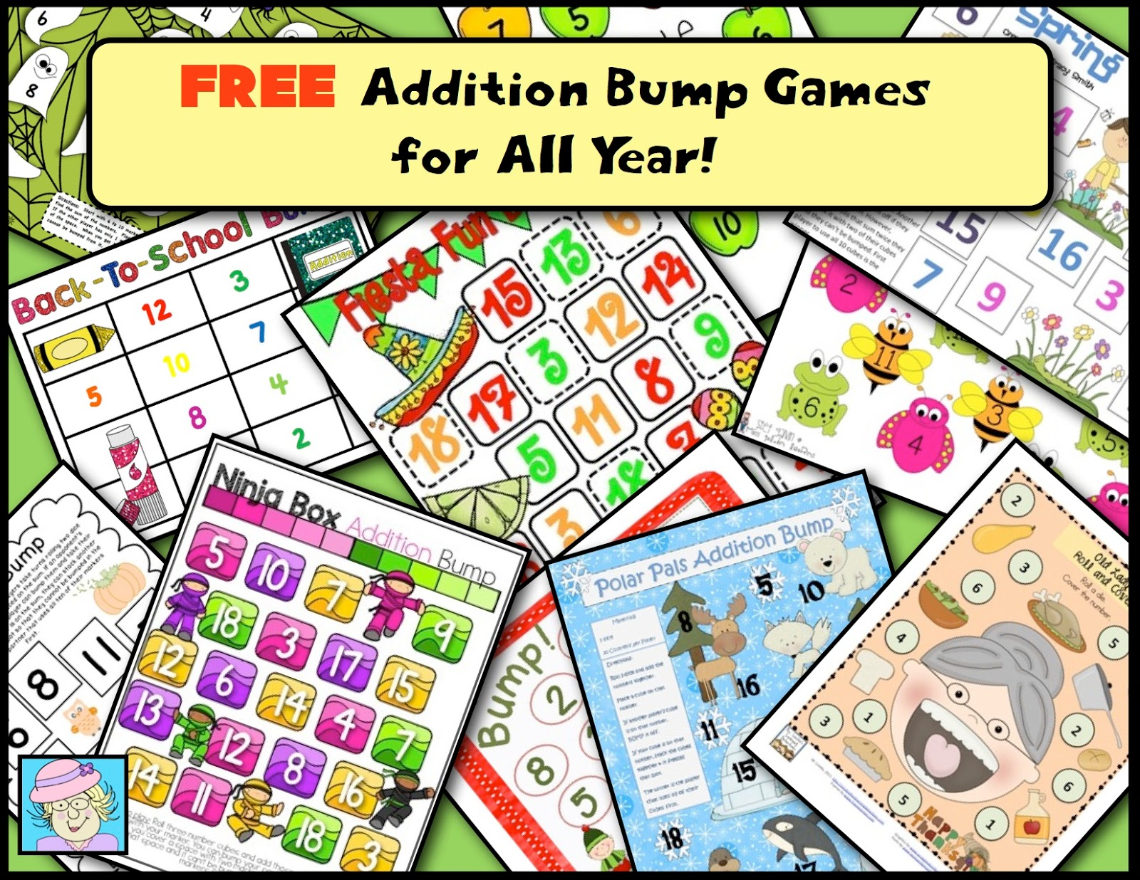 Teacher Tam\'s Educational Adventures: FREE Bump Addition Games for ...